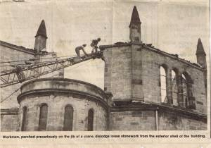 St. Paul's church after the fire