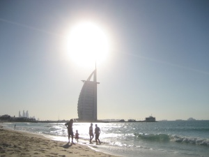 beach and Burj Al Arab hotel