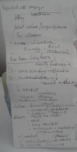 hand-written notes