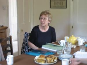 Shirley at table