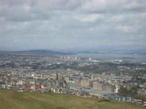 looking towards Fife from Arthur's seat