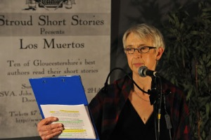 reading at Stroud Short Stories, photo by Tim Byford