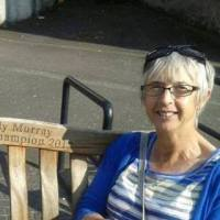 Last year in Dunblane. Andy's bench.